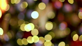 主要城市圣诞树闪闪发光 股票视频