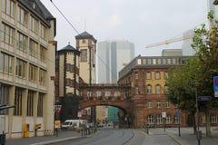 主要城市的法兰克福 免版税库存图片
