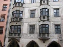 主要城市的秀丽和独创性在蒂罗尔 因斯布鲁克 库存图片