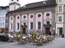 主要城市的秀丽和独创性在蒂罗尔 因斯布鲁克 图库摄影