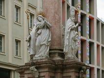 主要城市的秀丽和独创性在蒂罗尔 因斯布鲁克 免版税库存图片