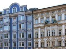 主要城市的秀丽和独创性在蒂罗尔 因斯布鲁克 免版税库存照片