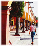 主要墨西哥方形tequisquiapan 免版税库存照片