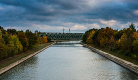 主要多瑙河运河 免版税库存照片