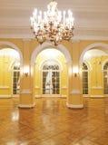 主要大厅的历史的内部 免版税库存照片