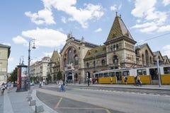 主要市场宫殿在布达佩斯 免版税库存照片