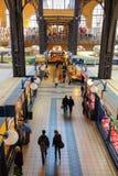 主要市场布达佩斯,匈牙利霍尔内部  免版税库存照片
