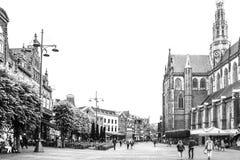 主要市场正方形在荷兰市哈莱姆 免版税库存照片