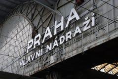 主要布拉格火车站 库存图片