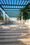 主要楼梯在Kalithea罗得岛,希腊 免版税库存照片