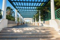 主要楼梯在Kalithea罗得岛,希腊 免版税库存图片