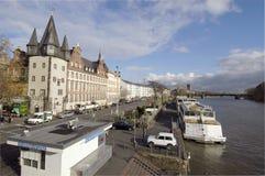 主要河在法兰克福 免版税库存照片