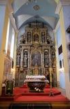 主要法坛在圣亚历山大凯瑟琳教会里在克拉皮纳,克罗地亚 库存图片