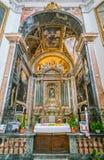 主要法坛在圣玛丽亚della步幅教会里在罗马,意大利 免版税库存照片