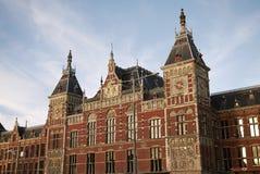 主要火车站在阿姆斯特丹 库存照片
