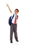 主要男小学生指向 免版税库存照片