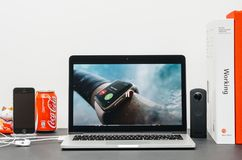 主要的苹果计算机防水手表系列3 图库摄影