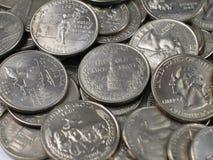 主要硬币季度 库存照片