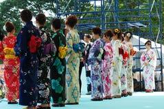 主要阶段显示富士市的日本富士小姐 库存照片
