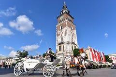 主要集市广场在克拉科夫 免版税库存照片