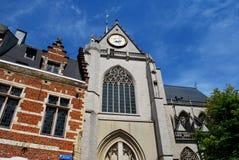 主要集市广场在鲁汶 免版税库存照片