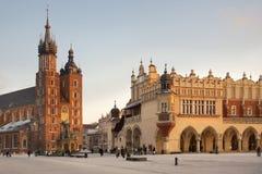 主要集市广场-克拉科夫-波兰 免版税库存照片