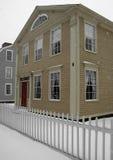 主要雪风暴街道 免版税库存图片