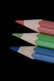 主要颜色的铅笔 免版税库存图片