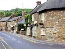 主路,Abbotsbury,多西特,英国 免版税图库摄影