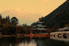 丽江ying的棕褐色 免版税图库摄影