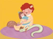 丽贝卡和您木偶 库存照片
