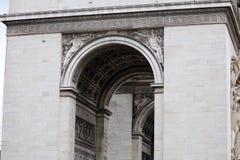 举世闻名的地标凯旋门在日出期间的巴黎法国图片的没有人民 图库摄影