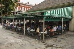 举世闻名的Cafe Du Monde 库存图片