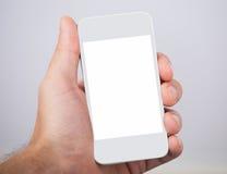 举行与黑屏的手smartphone 图库摄影