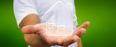 举行原稿房地产计划项目的商人 免版税库存图片