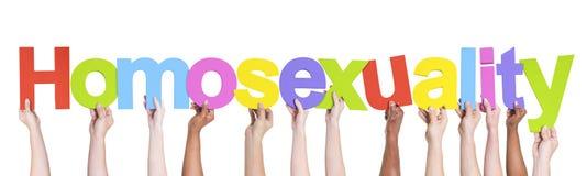 举行同性恋的不同的小组手 库存照片