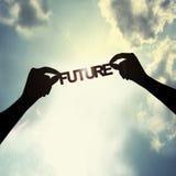 举行在天空的未来 免版税库存图片