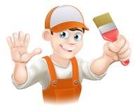 画家或装饰员人 免版税库存照片