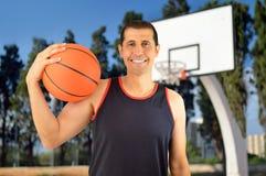 举行篮球 免版税库存图片