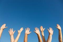 举起手来 库存图片