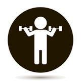 举重运动员 传染媒介人 适应图标 向量例证