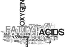 什么做根本脂肪酸在您的身体词云彩做 免版税库存图片