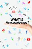 什么是免疫疗法文本 免版税库存照片