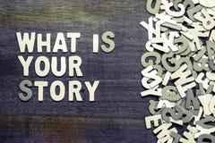什么是您的故事 库存图片