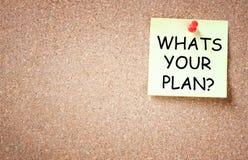 什么是您的计划概念,文本的室 免版税库存图片