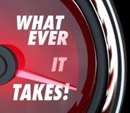 什么这花费车速表达到快速的成功目标 库存照片