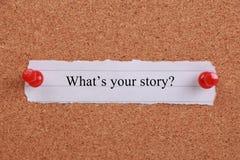 什么s您的故事? 免版税库存照片