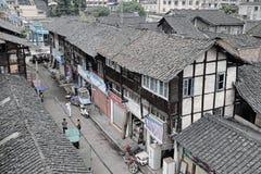 义井中国老街道 免版税库存照片