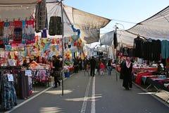 义卖市场伊斯坦布尔街道 免版税库存图片