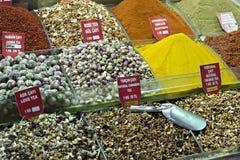 义卖市场伊斯坦布尔香料火鸡 免版税库存照片